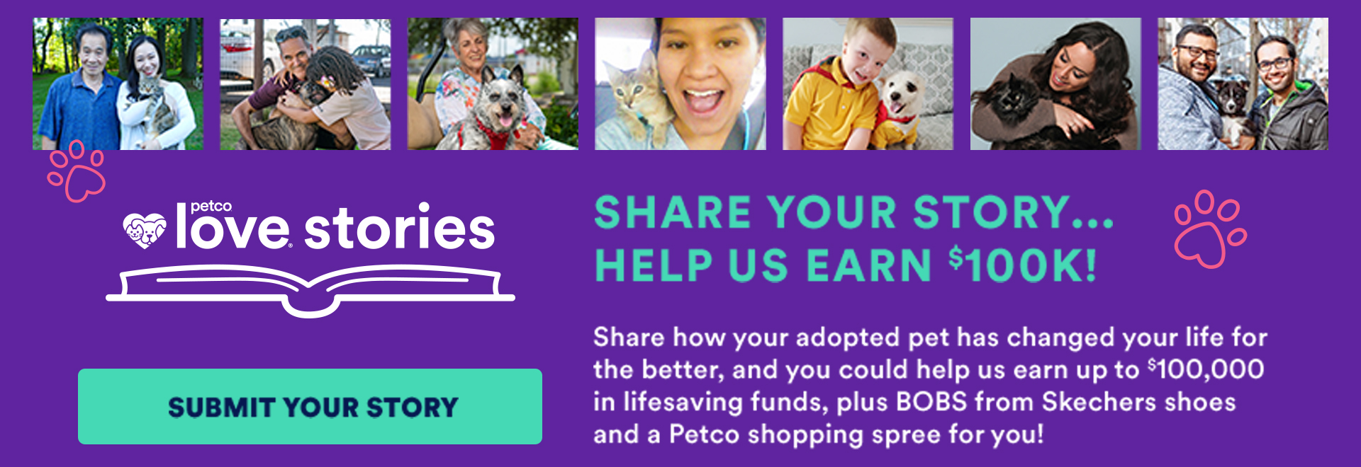 Submit your Love Story to Petco to help us win!